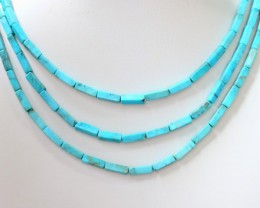 105 Cts  Three strand Turquoise 40 cm length GOGO 1249