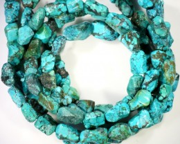 295 Cts  Three strand Turquoise 40 cm length GOGO 1254