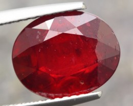 5.27ct Natural MADAGASCAR OVAL RED RUBY GEMSTONE