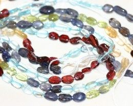 3 STRANDS MULTI-GEMSTONE BEADS - 146 CARATS