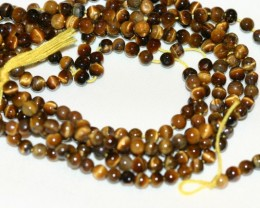 3 STRANDS TIGERS EYE BEADS - 159 CARATS TCW
