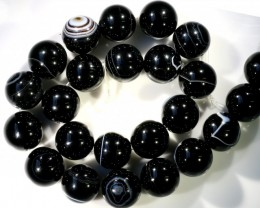 700 cts Brazil Banded agate strand beads GOGO 1268