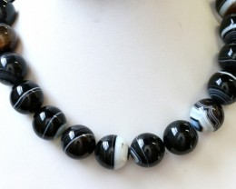 900 cts Brazil Banded agate strand beads GOGO 1270