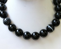 900 cts Brazil Banded agate strand beads GOGO 1272