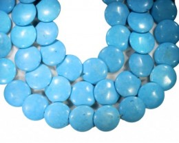 255 cts Three Button howlite strand beads GOGO 1275