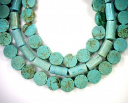 500 cts Three howlite treated strand beads GOGO 1277