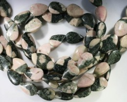 500 cts Three Brazil jasper pink / grey strand beads GOGO 1279