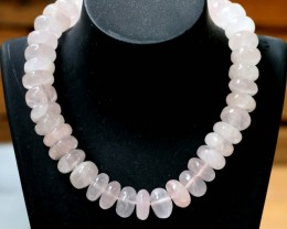 700 CTS Natural rose quartz Bead Three strand GOGO 1295