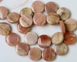 350 Cts Pastel  Rhodochroiste strand beads  GOGO 1296