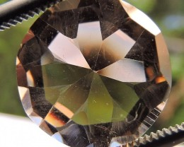 5.95ct VVS FACETED BRAZILIAN SMOKEY QUARTZ GEMSTONE CUT IN THE U.S MJ106