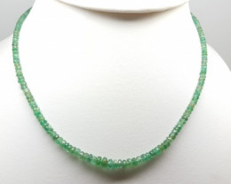 SUPERFINE-1-LINE-50-CT-NATURAL-ZAMBIAN-EMERALD-FACETED-ROUND-BEADS-NECKLACE