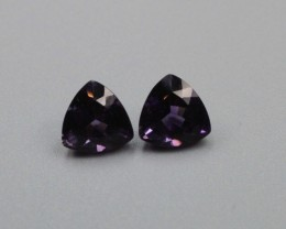 AMETHYST TRILLION SHAPED PAIR