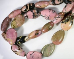 450 cts Two Strand Rhodonite beads GOGO 1308