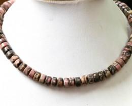 300 cts Strand Rhodonite beads GOGO 1311