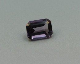 AMETHYST EMERALD CUT GEMSTONE