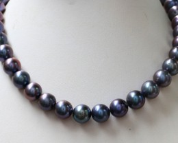 300 cts 10 mm Black luster Pearl strand. GOGO 1324