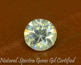 GiL Certified 1.50 ct Natural White Zircon Combodia PR.2