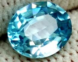 1.30CT NATURAL BLUE ZIRCON OVAL GEMSTONES