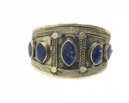 173 Carats Natural Lapis Lazuli Bangle antique style from afghanistan