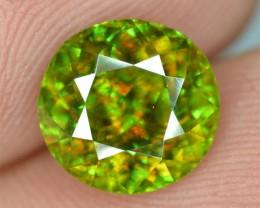 3.80 Crt Natural Top Quality Fire Sphene Titanite Gemstone~Pakistan