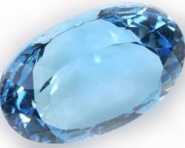 11.80 Cts  Blue  Brazilain Blue  Topaz Gemstone  GOGO 1406
