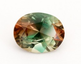 2.35ct Green Peach Bicolor Oval Sunstone (S2494) SALE: Crack in stone