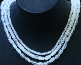 135 Cts three strands Moonstone beads GOGO 1431