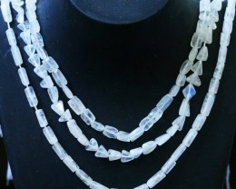 175 Cts three strands Moonstone beads GOGO 1434