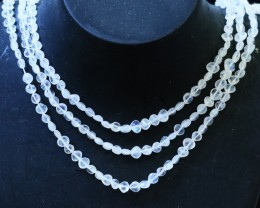 75 Cts three strands Moonstone beads GOGO 1436
