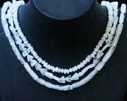 145 Cts three strands Moonstone beads GOGO 1440