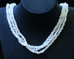 120 Cts three strands Moonstone beads GOGO 1444