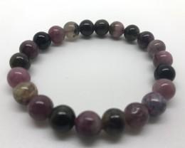 114 Carats Top Colour Round Beads Tourmaline Braslate