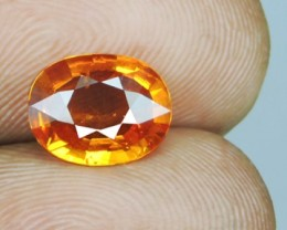 2.30 CTS AWESOME NICE ORANGEISH-YELLOW SAPPHIRE FACET GENUINE