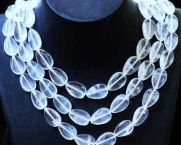 470.00 Cts three Strand Crystal bead strands  GOGO 1462