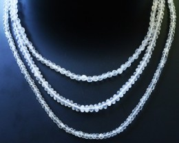 150.00 Cts three Strand Crystal bead strands  GOGO 1488