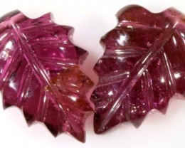 6.30 Cts pair  matching tourmaline carvings GOGO 1535