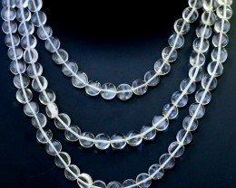 295.00 Cts three Strand Crystal bead strands  GOGO 1542
