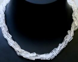 140.00 Cts three Strand Crystal bead strands  GOGO 1550