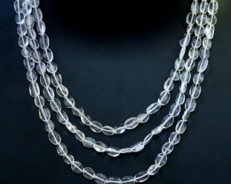 150.00 Cts three Strand Crystal bead strands  GOGO 1562