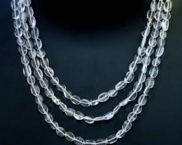 150.00 Cts three Strand Crystal bead strands  GOGO 1562