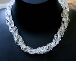 250.0  Cts three Strand Crystal bead strands  GOGO 1566