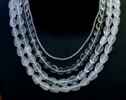 500.00 Cts four Strand Crystal bead strands  GOGO 1571
