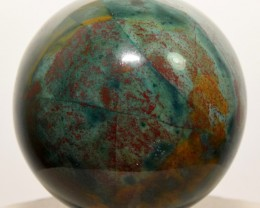 55mm Natural Bloodstone Sphere Red / Green Crystal India (STBSS-NA89)