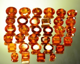 82.960 ct Natural Hessonite Garnet 34 Pcs Lot