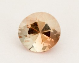 0.65ct Peach Round Sunstone (S2478)