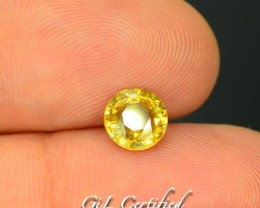 GiL Certified 1.39 ct Natural Yellow Zircon Untreated Combodia PR.1
