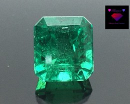 2.13 carat Awesome Colombian Emerald Top Cut & Luster Vivid Green