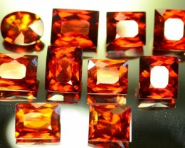 60.070 ct Natural Hessonite Garnet 10 Pcs Lot