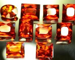 60.070 ct Natural Hessonite Garnet 10 Pcs Lot