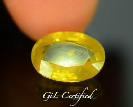 GiL Certified 3.46 ct Natural Yellow Zircon Untreated Combodia PR.1